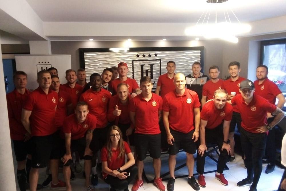Reprezentacja Widzewa Łódź w Hotelu Lantier
